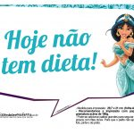 Plaquinhas Divertida Princesa Jasmine 7