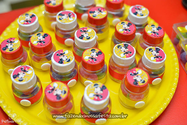 Potes de Balas Festa Mickey do Emanuel