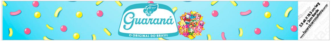 Rótulo Guaraná Caçulinha Shopkins Azul