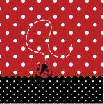 Rótulo Mini Confeti Joaninha