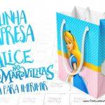 Sacolinha Surpresa Alice no Pais das Maravilhas Grátis para Imprimir