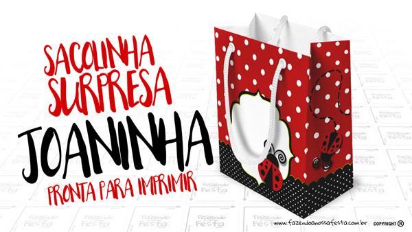 Sacolinha Surpresa Joaninha