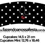 Saias Wrappers para Cupcakes Kit Festa Joaninha