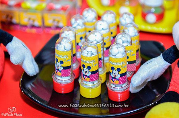 Tubetes Festa Mickey do Emanuel