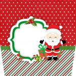 Balde de Pipoca Natal Papai Noel