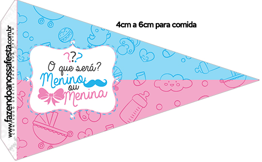 Bandeirinha Sanduiche 1 Chá de Revelação