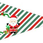 Bandeirinha sanduíche 4 Natal Papai Noel