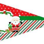 Bandeirinha Sanduiche 5 Natal Papai Noel