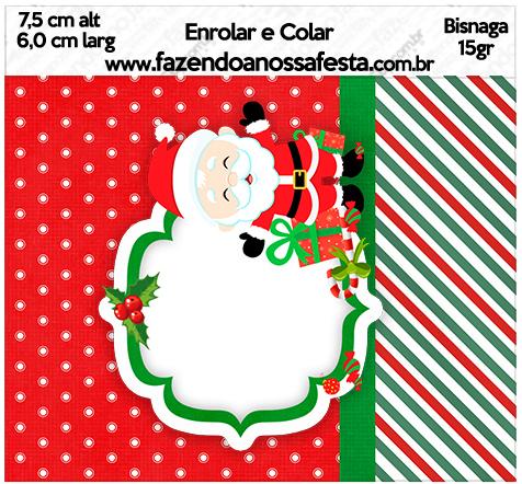 Bisnaga Brigadeiro 15gr Natal Papai Noel