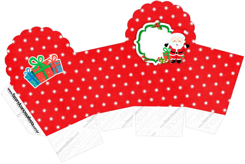 Caixa Cupcake Natal Papai Noel Fazendo A Nossa Festa