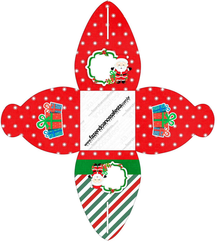 Caixa Natal Papai Noel
