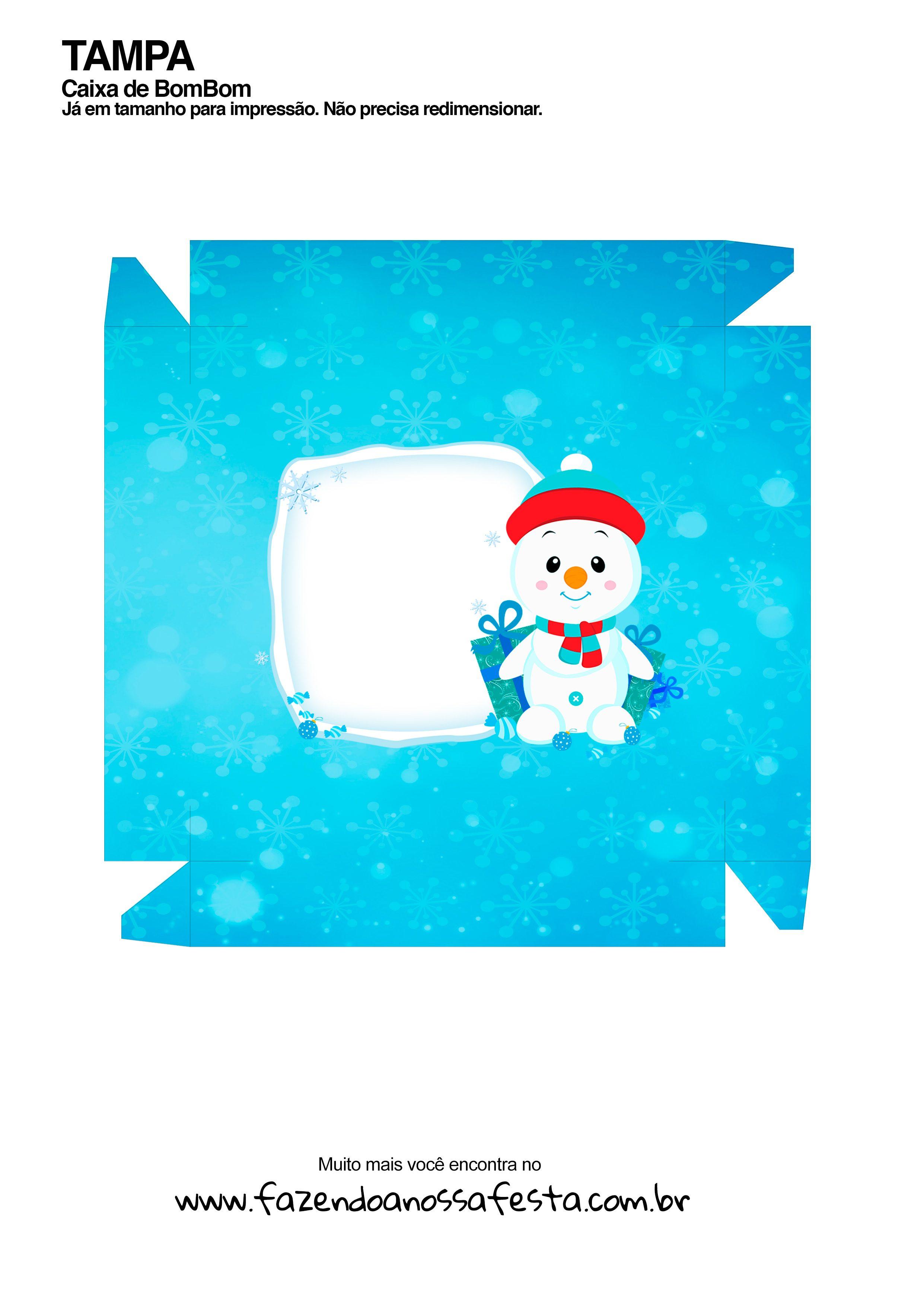 Caixa Talento Prestígio e Bis para Natal 13 - parte de fora