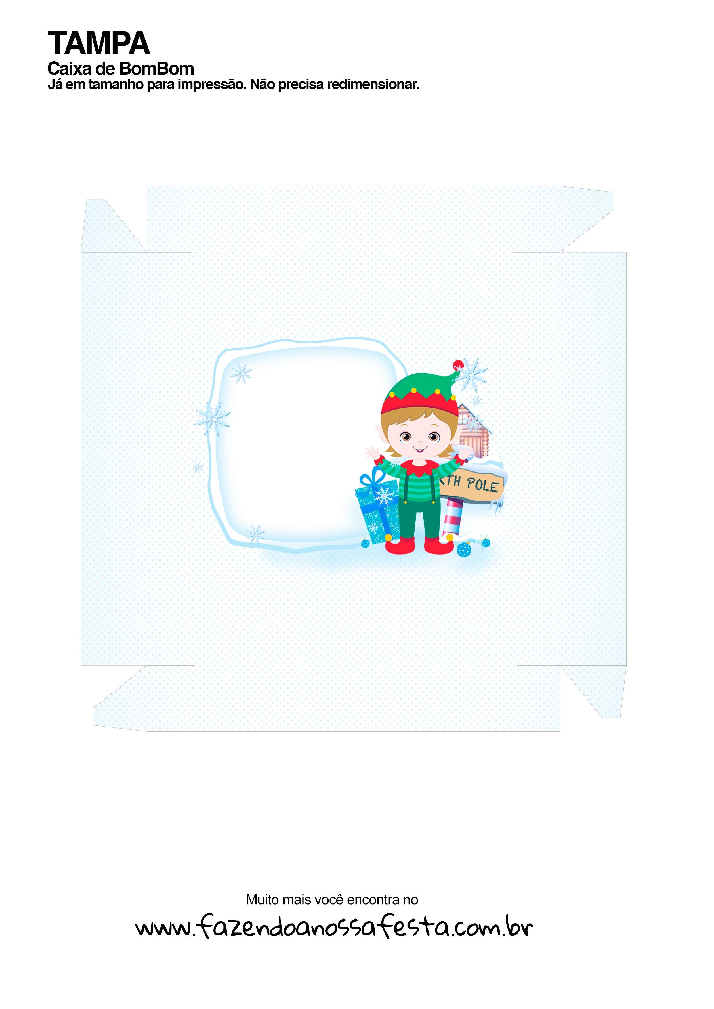 Caixa Talento Prestígio e Bis de Natal - parte de fora