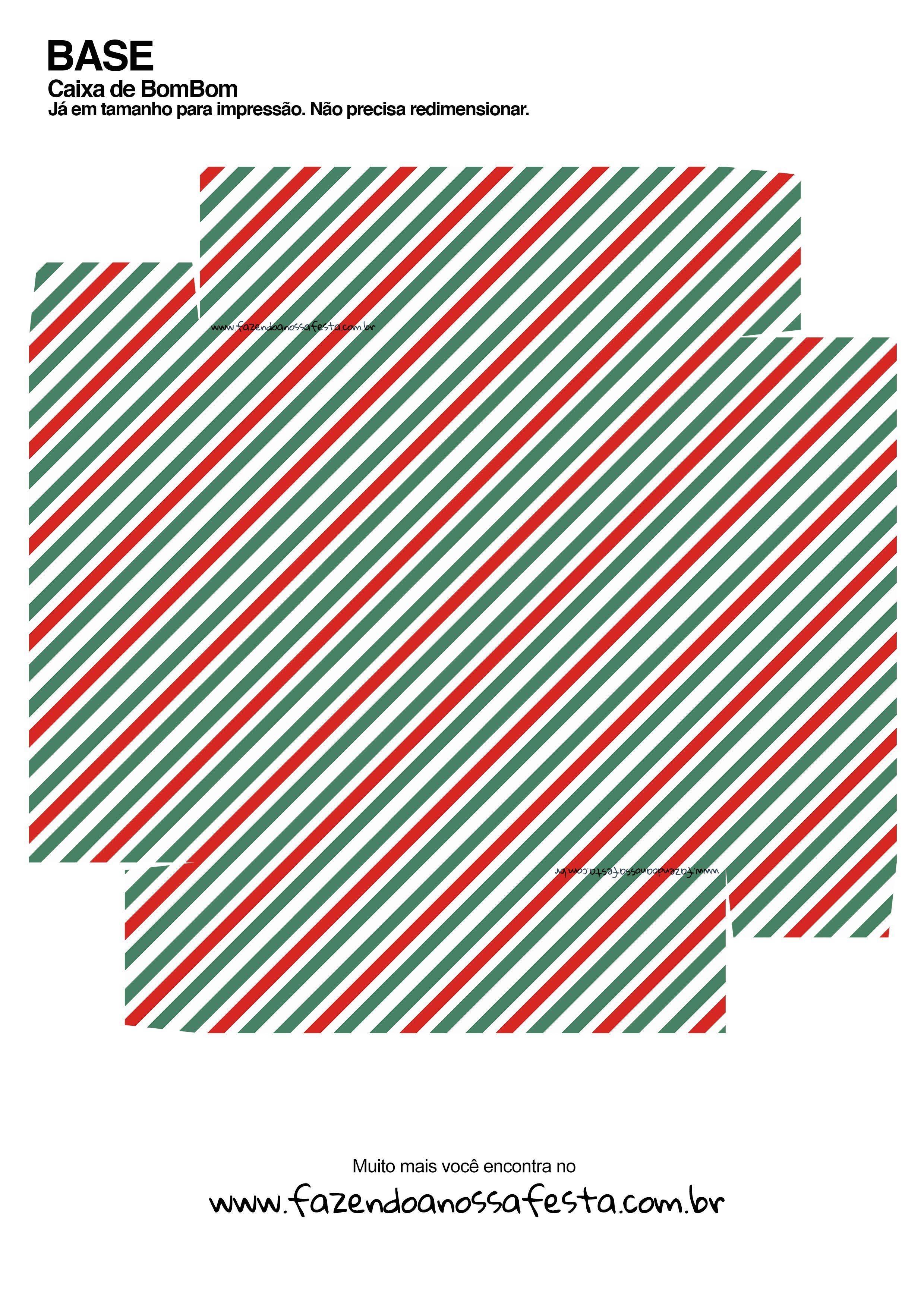Caixa Talento Prestígio e Bis para Natal - Mamãe Noel Vermelha - parte de baixo