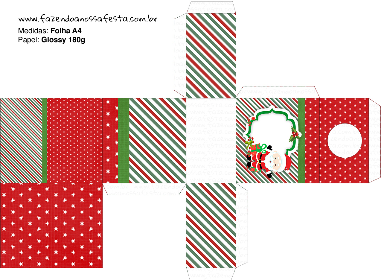 Caixa Tubete Natal Papai Noel