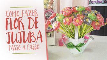Como fazer Flor de Jujuba para Festa