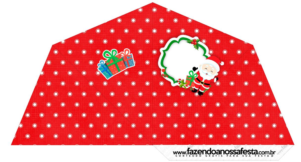 Cone Guloseimas 4 lados Natal Papai Noel