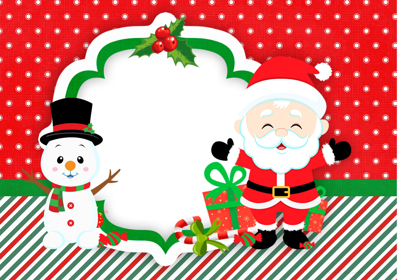 Convite 3 Natal Papai Noel