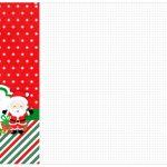 Convite Cardápio ou Cronograma em Z Natal Papai Noel