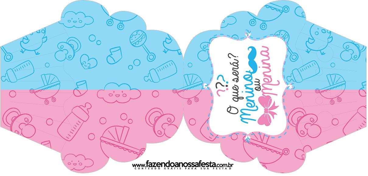Convite Cupcake Chá de Revelação