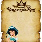 Convite Pergaminho Princesa Jasmine sem escritas
