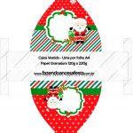 Convite Vestido 8 Natal Papai Noel