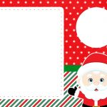 Convite com foto 2 Natal Papai Noel