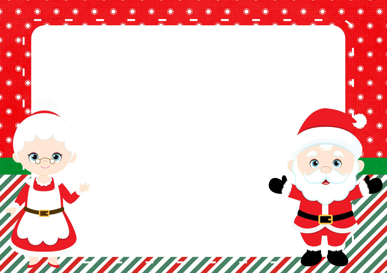 Convite ou Moldura Kit Natal