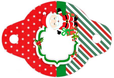Enfeite Canudinho Natal Papai Noel