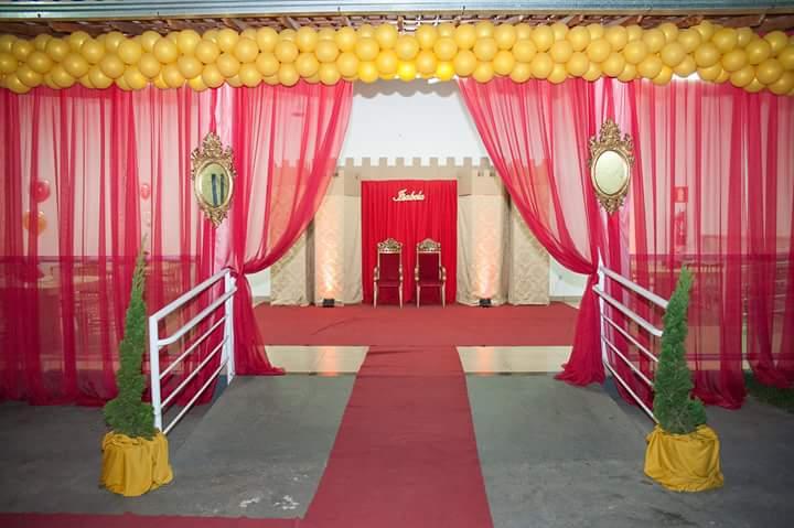 Entrada Festa Infantil Coroa de Princesa da Isabela