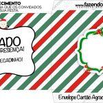 Envelope do Cartão Agradecimento Natal Papai Noel