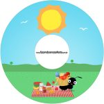 Etiqueta CD DVD Picnic