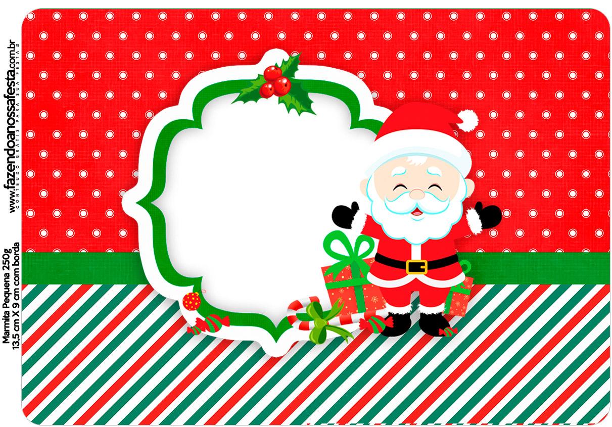 Marmitinha Grande Natal Papai Noel Fazendo A Nossa Festa