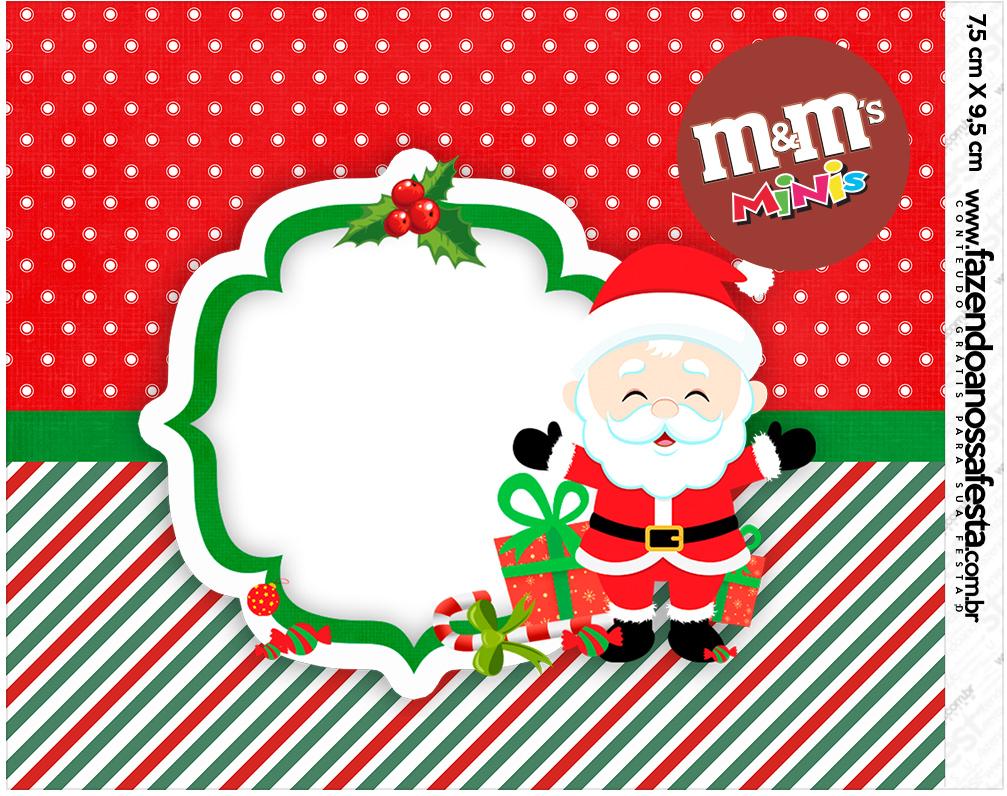 Mini M&M Natal Papai Noel