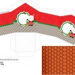Molde Casinha Natal Papai Noel