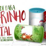 Molde Cofrinho Personalizado para Natal Grátis para Imprimir