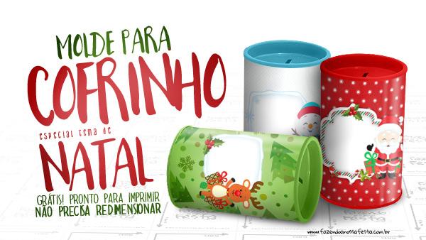 Aparador Sala De Jantar ~ Molde Cofrinho Personalizado para Natal Grátis para Imprimir