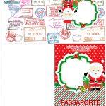 Molde Passaporte Natal Papai Noel