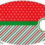 Placa Elipse Natal Papai Noel