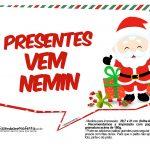 Plaquinhas Natal Papai Noel 11