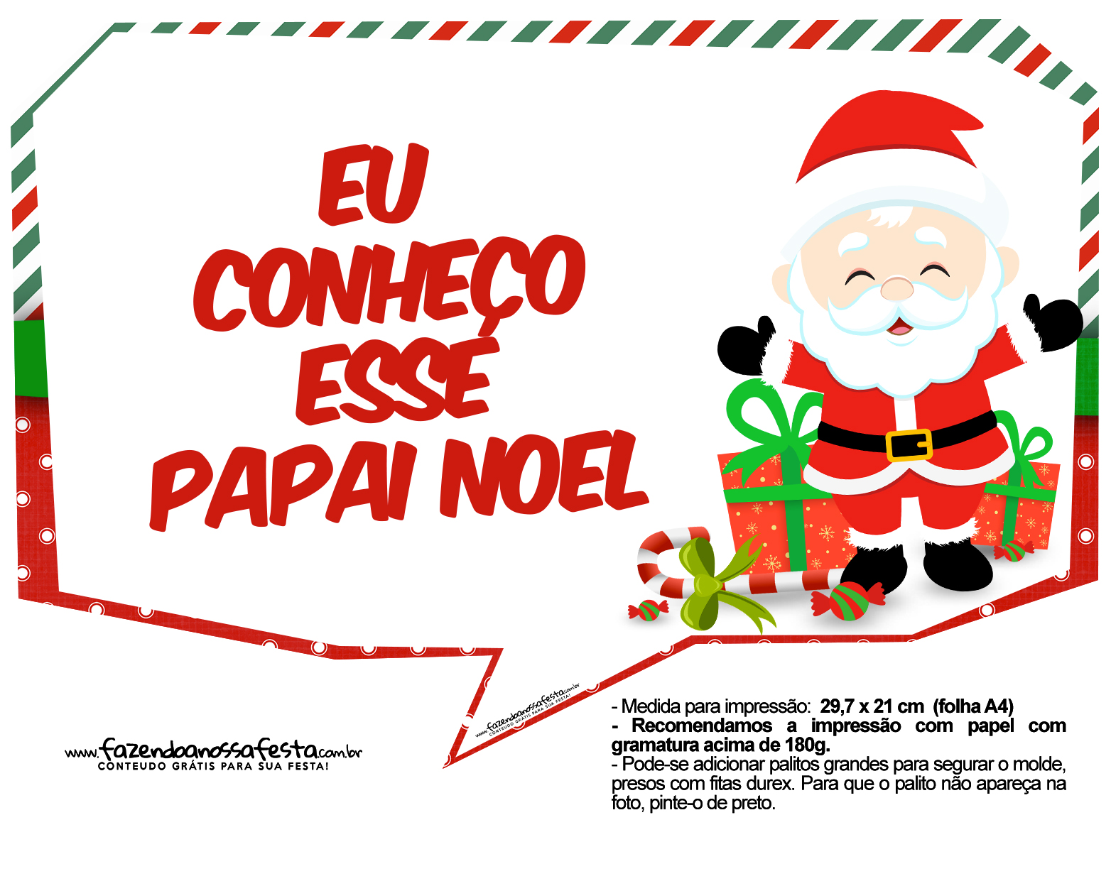 Plaquinhas Natal Papai Noel 12