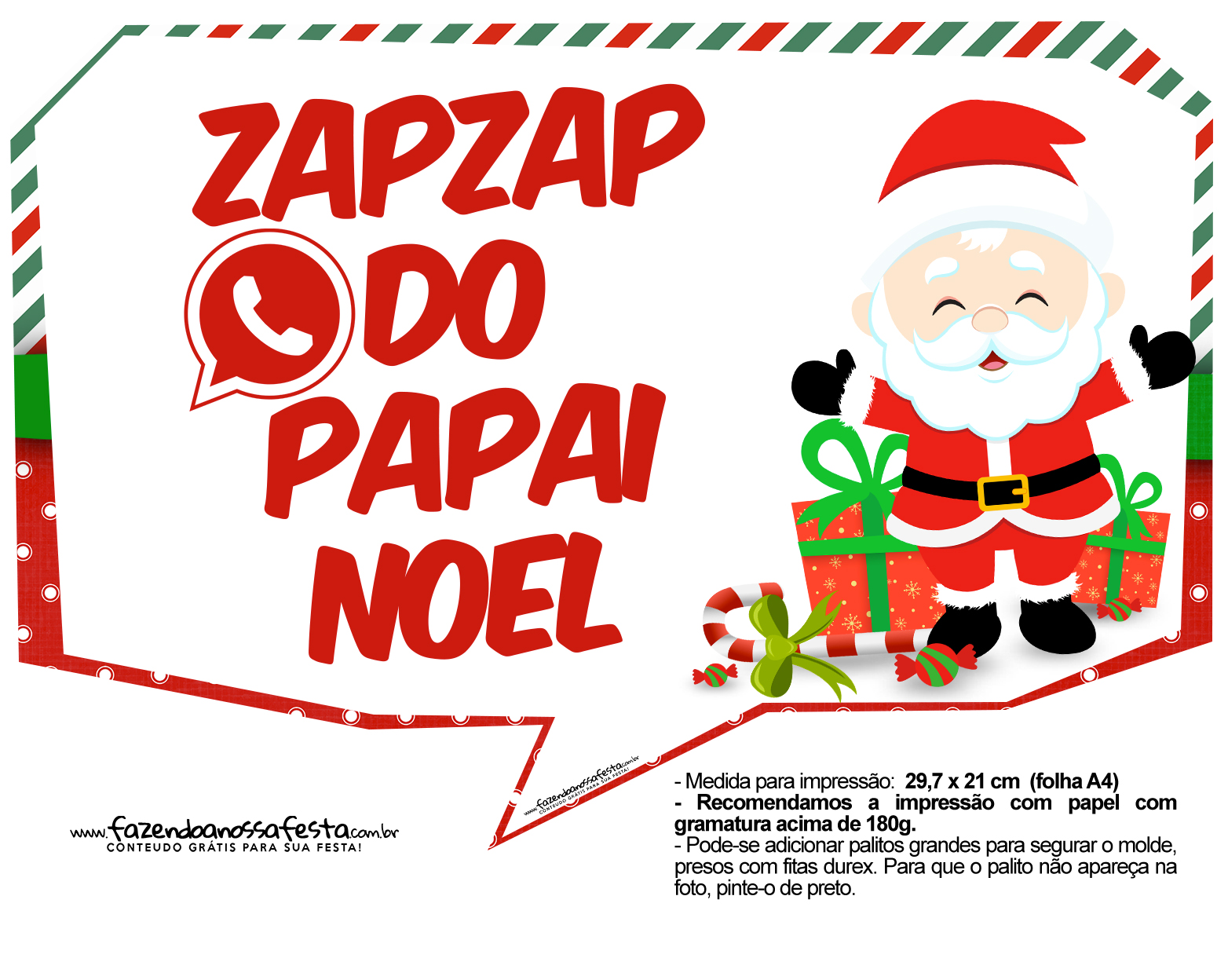 Plaquinhas Divertidas Natal Papai Noel 14