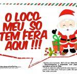 Plaquinhas Divertidas Natal Papai Noel 21