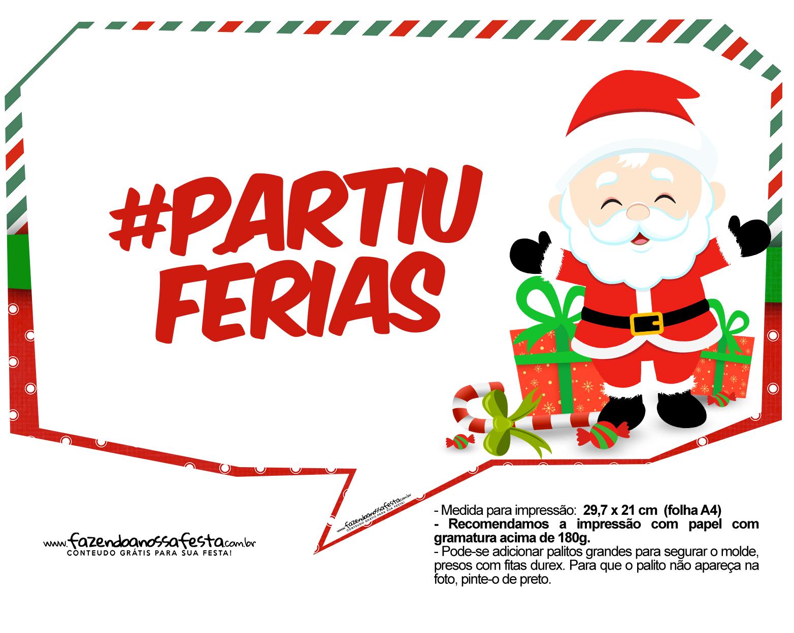 Plaquinhas Divertidas Natal Papai Noel 25