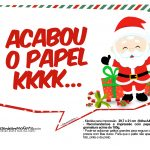 Plaquinhas Divertidas Natal Papai Noel 27