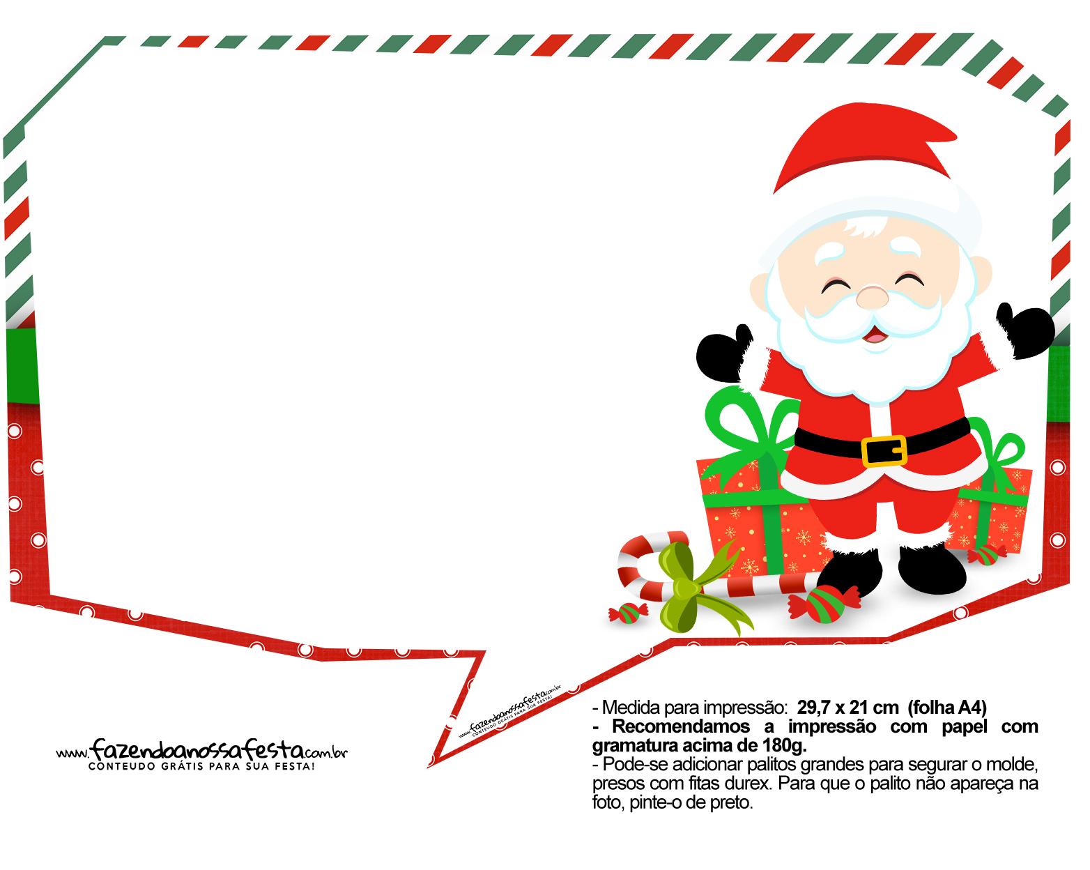Plaquinhas Divertidas Natal Papai Noel 32