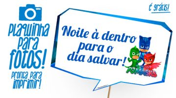 Plaquinhas Divertidas PJ Masks