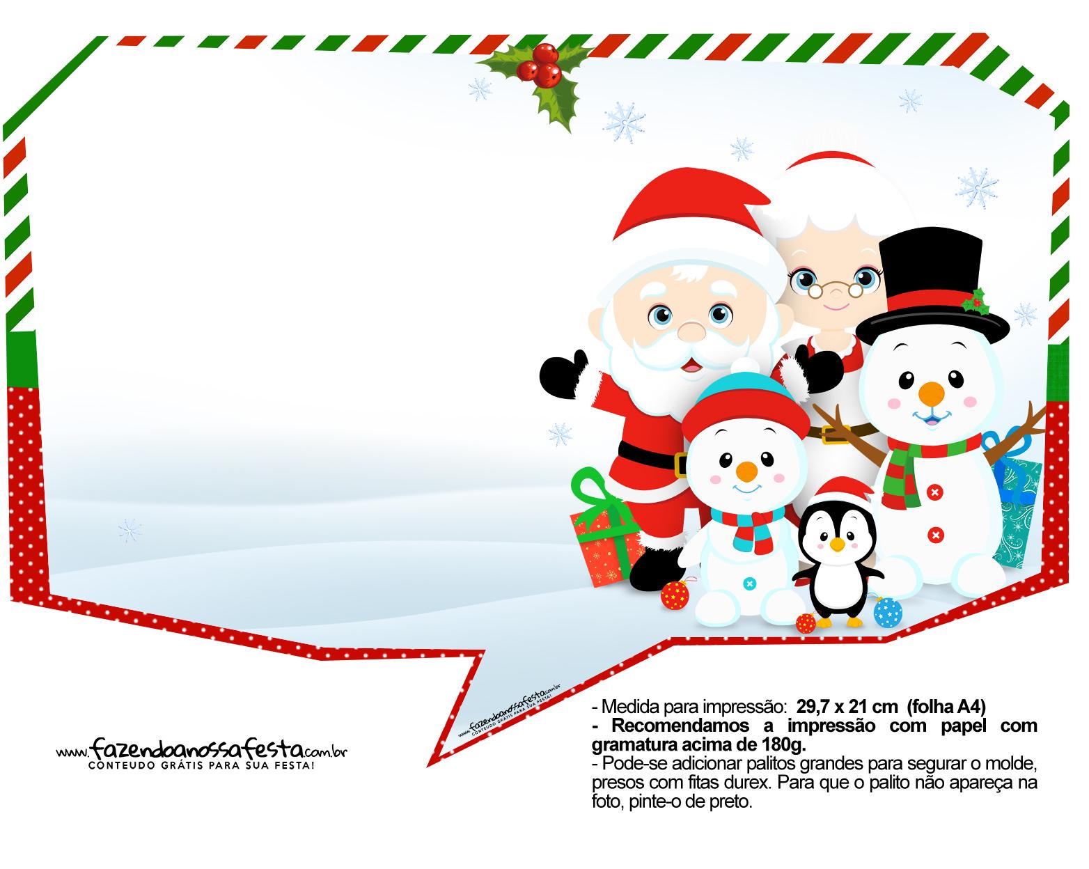Plaquinhas divertidas para fotos de Natal 32