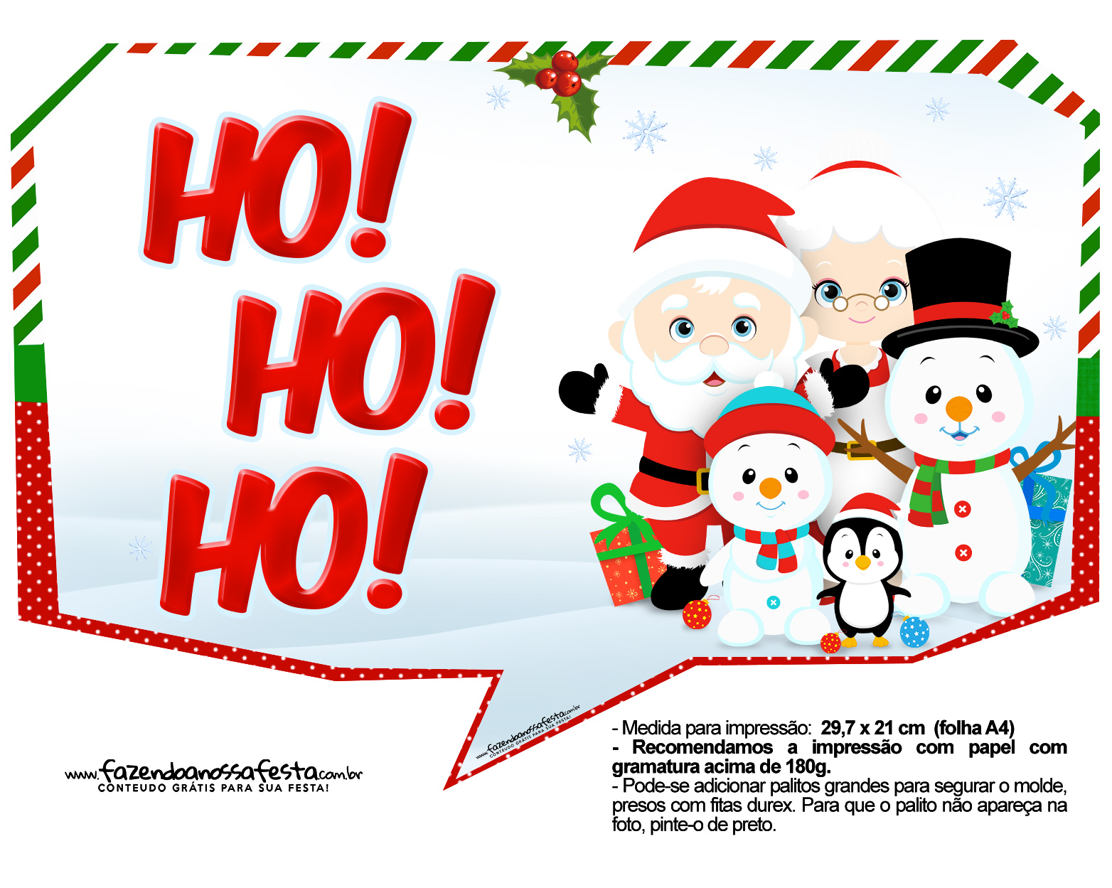 Plaquinhas divertidas para Natal 1