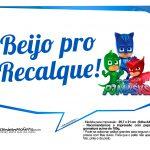Plaquinhas Divertidas para festa PJ Masks 31